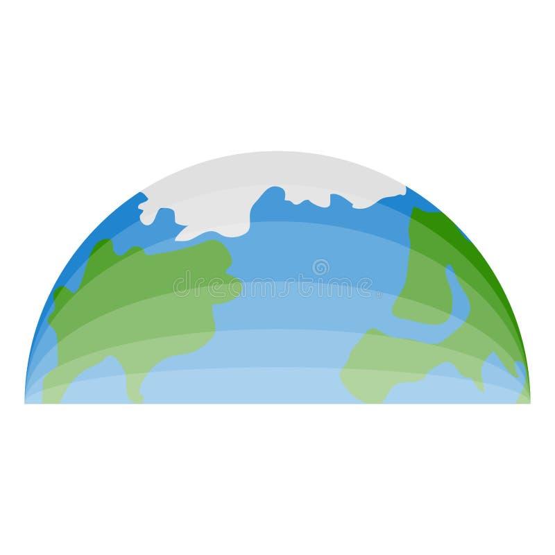 Halve bovenkant van onze planeet stock illustratie