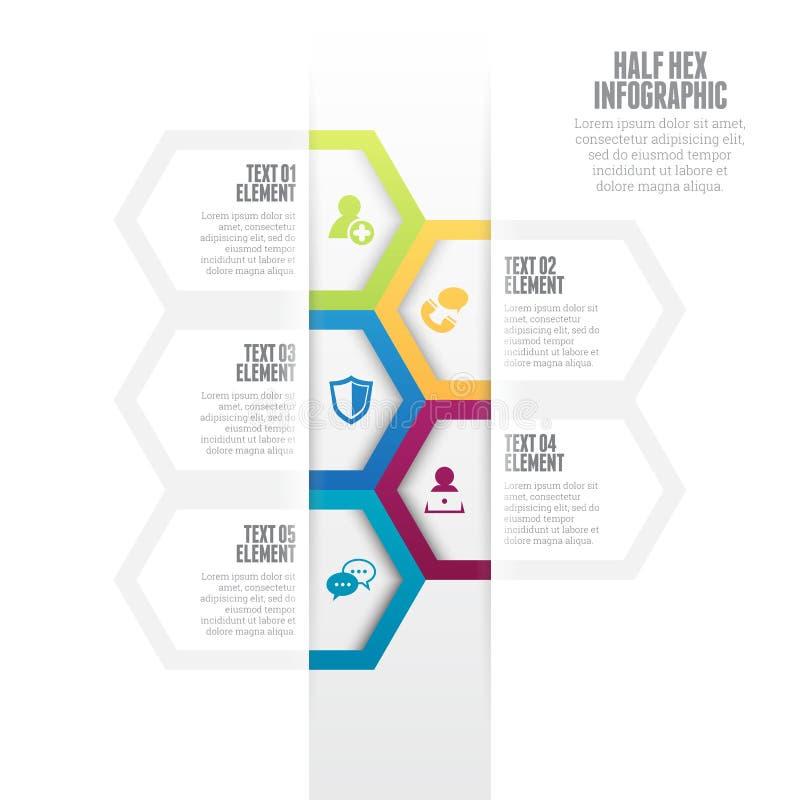 Halve Hexuitdraai Infographic stock illustratie