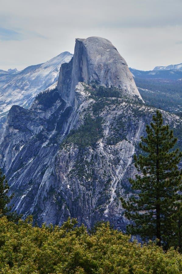 Halve Koepel in Yosemite royalty-vrije stock afbeeldingen