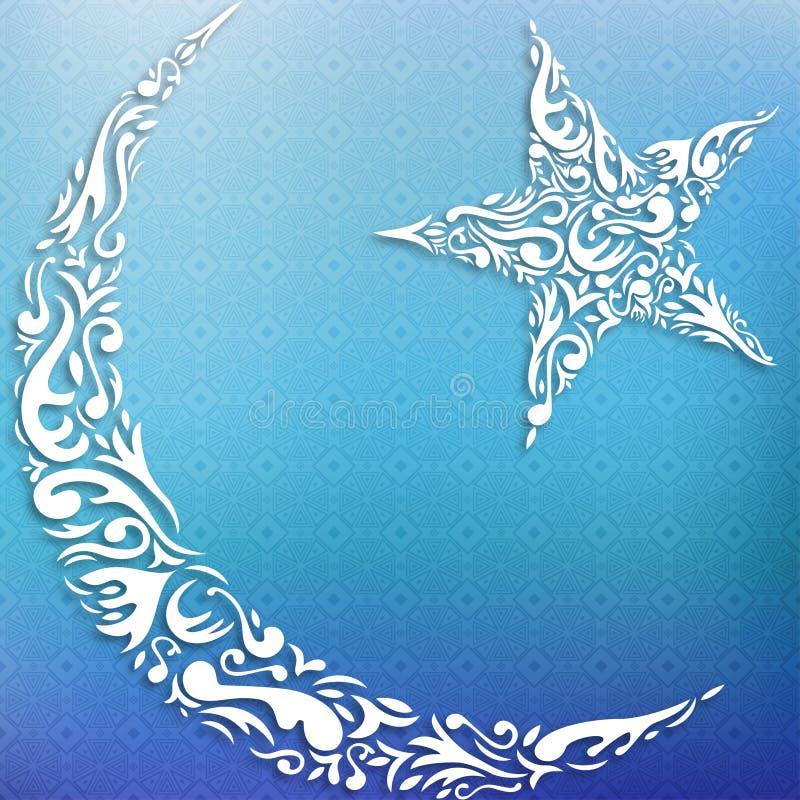 Halve maan en ster royalty-vrije illustratie