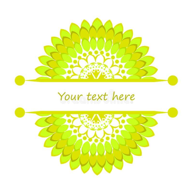 Halve mandalas met plaats voor uw tekst stock illustratie