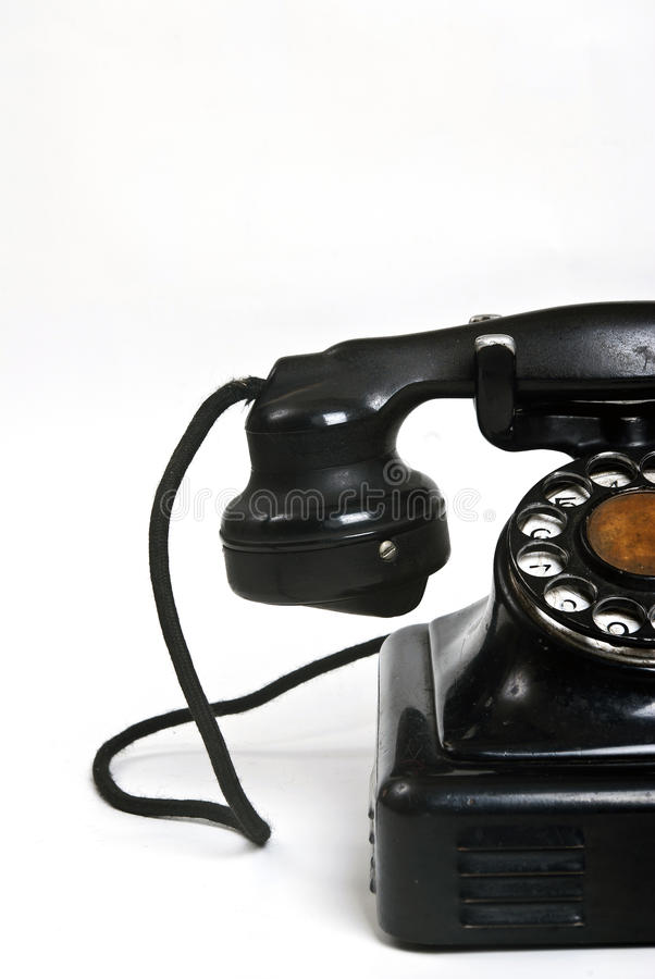 Halve Oude telefoon royalty-vrije stock afbeelding