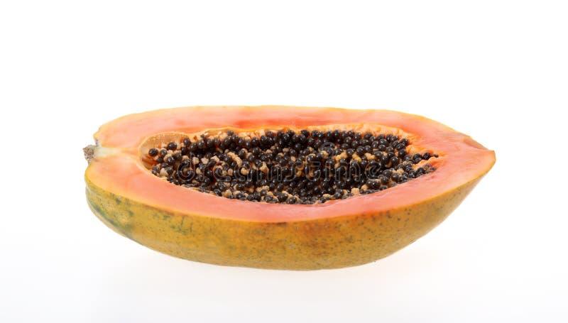 Halve papaja royalty-vrije stock fotografie
