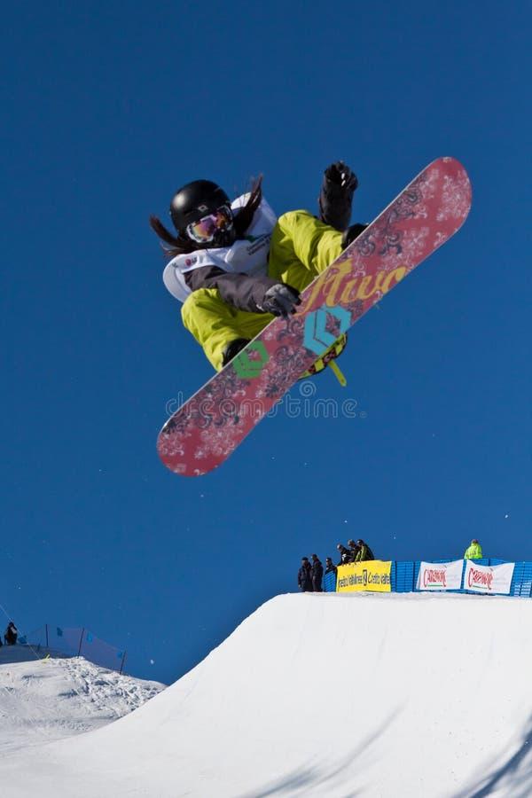 Halve Pijp snowboard stock afbeeldingen