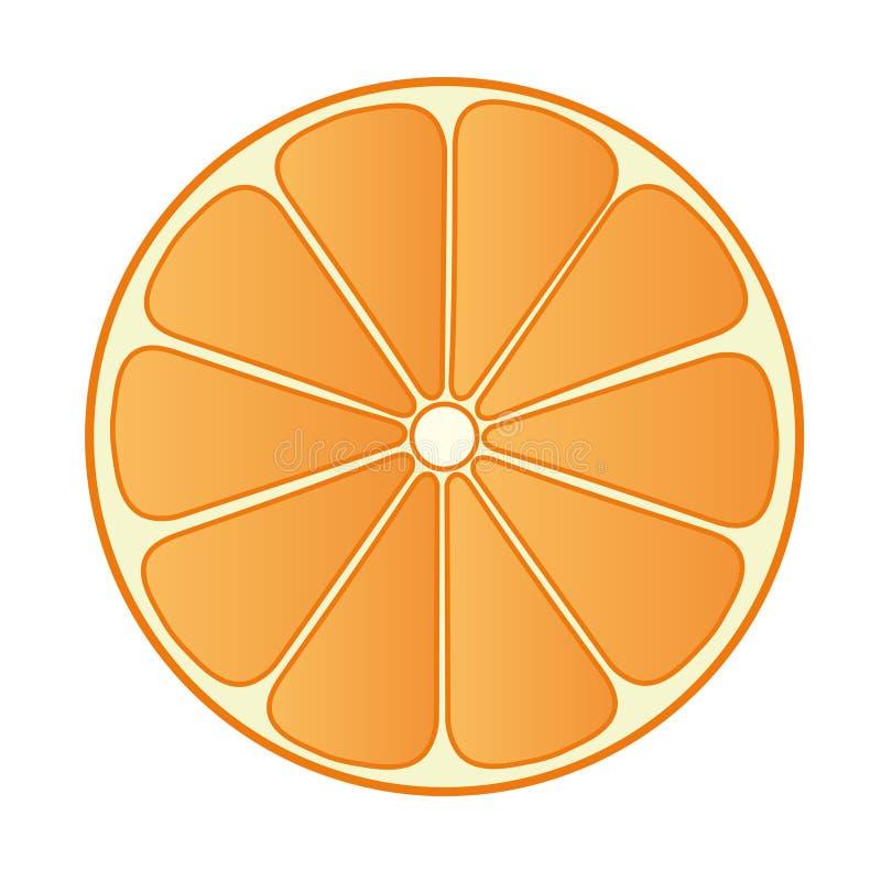 Halve Sinaasappel 02 stock illustratie