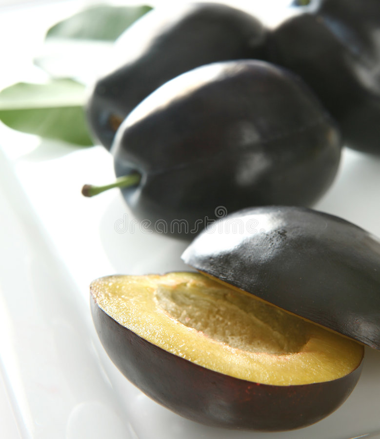 Free Halved Plums Stock Photo - 6596640