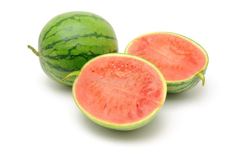 Halved Watermelon Stock Photography