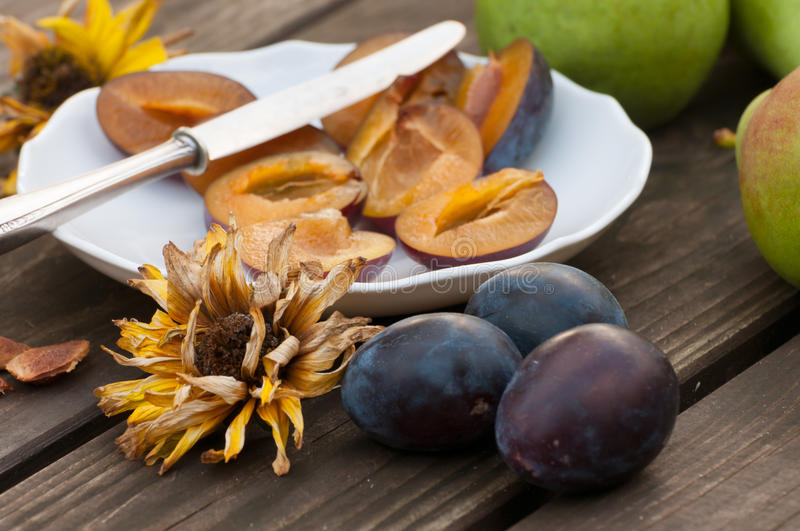 Download Halved And Whole Damson Plums Stock Image - Image of organic, eating: 26550645