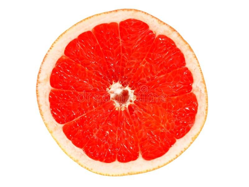 Halverad grapefrukt på vitt royaltyfria bilder