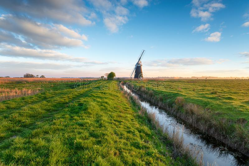 Halvergate Windmill in Norfolk royalty free stock images