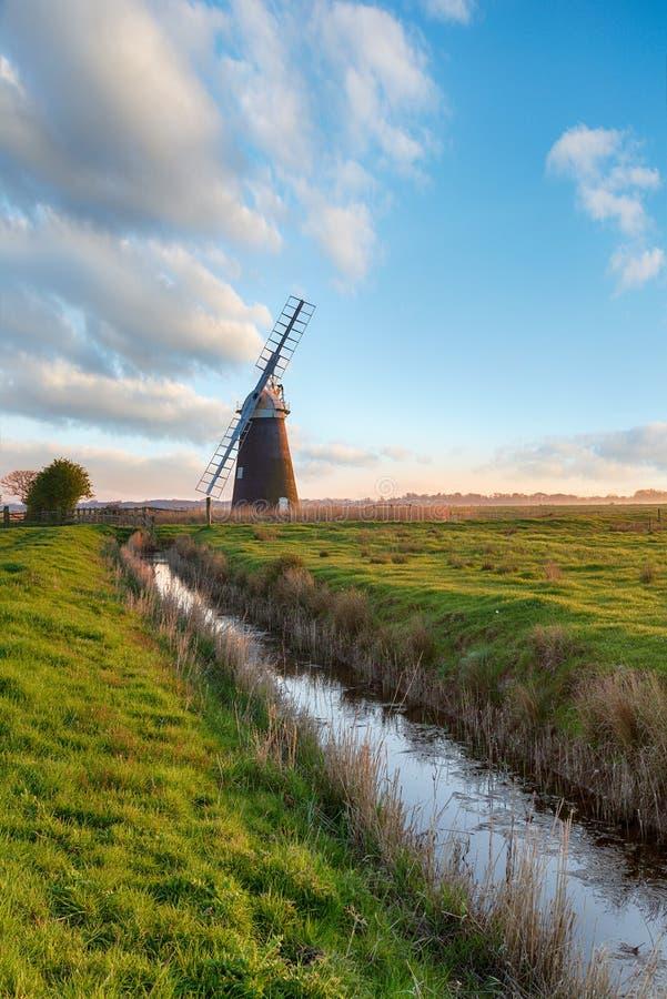 Halvergate Windmill near Great Yarmouth stock image