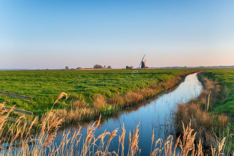 Halvergate Windmill in Norfolk stock photography