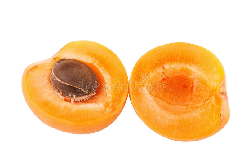 Halves of apricot royalty free stock images