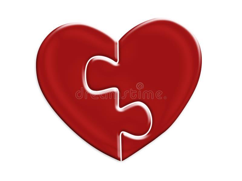 halves att passa till för hjärta stock illustrationer