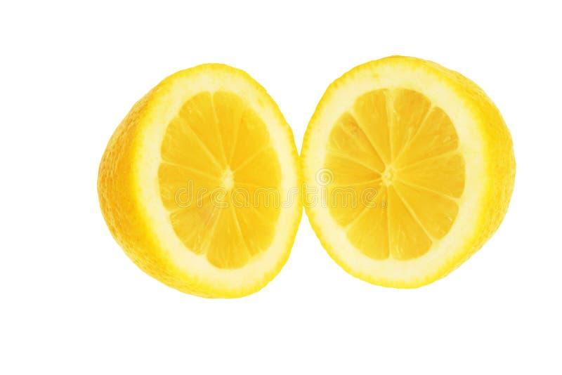 halves citron två arkivfoto