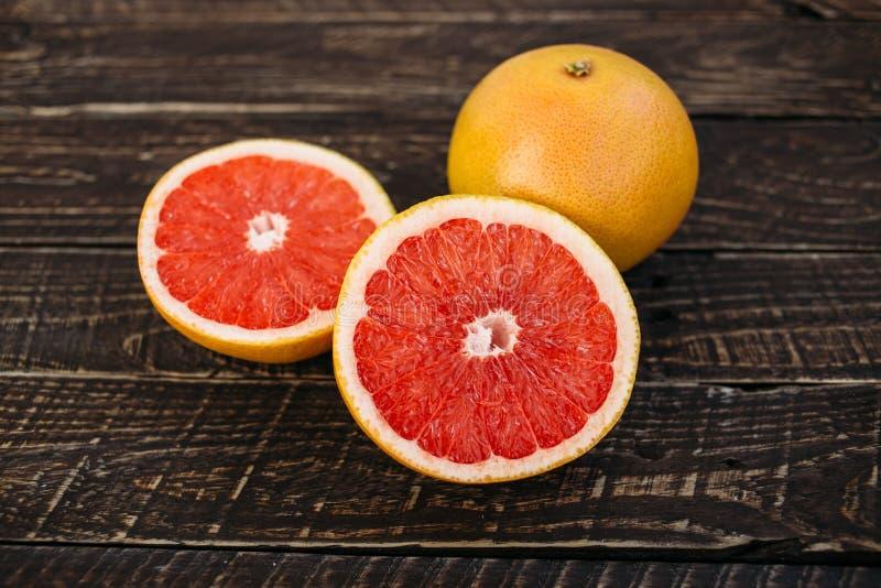 Halves grapefruit royalty free stock photo