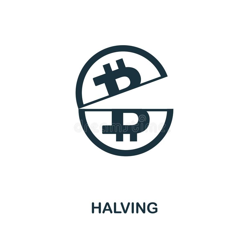 Halving icon. Monochrome style design from crypto currency icon collection. UI. Pixel perfect simple pictogram halving icon. Web d vector illustration