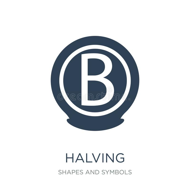 halving icon in trendy design style. halving icon isolated on white background. halving vector icon simple and modern flat symbol vector illustration