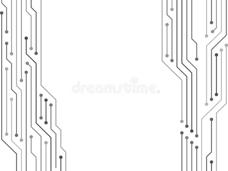 Halvledareanslutningar av datormaskinvara stock illustrationer
