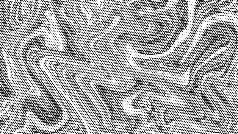 Halvton marmorerar texturbakgrund Abstrakt svartvit prickkonstbakgrund Modern gråtonmodell, affärsräkningsbakgrund de royaltyfri illustrationer