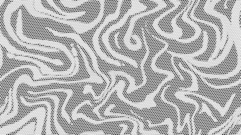 Halvton marmorerar texturbakgrund Abstrakt svartvit prickkonstbakgrund Modern gråtonmodell, bakgrundsdesign vektor royaltyfri illustrationer