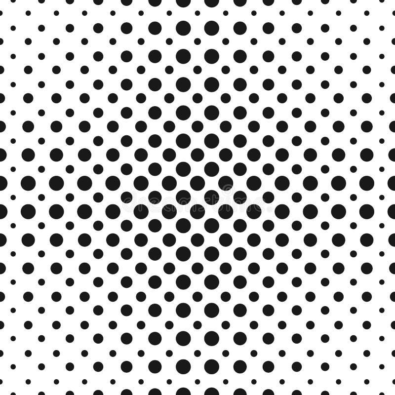 Halvton pricker den sömlösa modellen för vektorn Rastrerade cirklar stock illustrationer