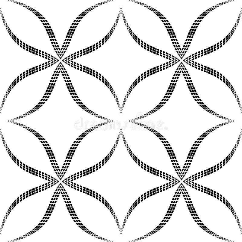Halvtonabstrakt begrepp blommar den sömlösa modellen för den geometriska vektorn. royaltyfri illustrationer