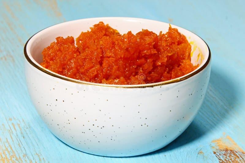 Halwa da cenoura ou do Gajar imagem de stock royalty free