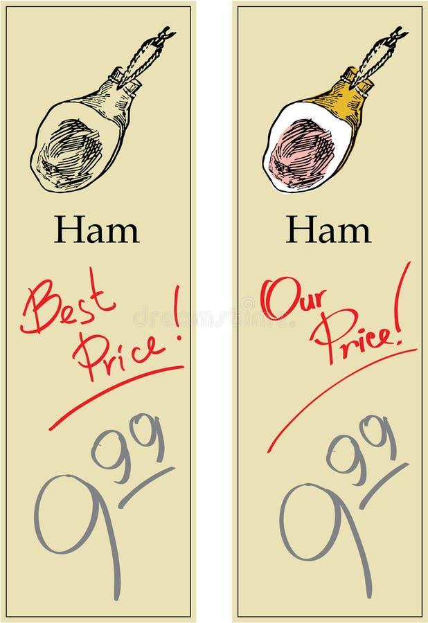 Ham stock illustratie