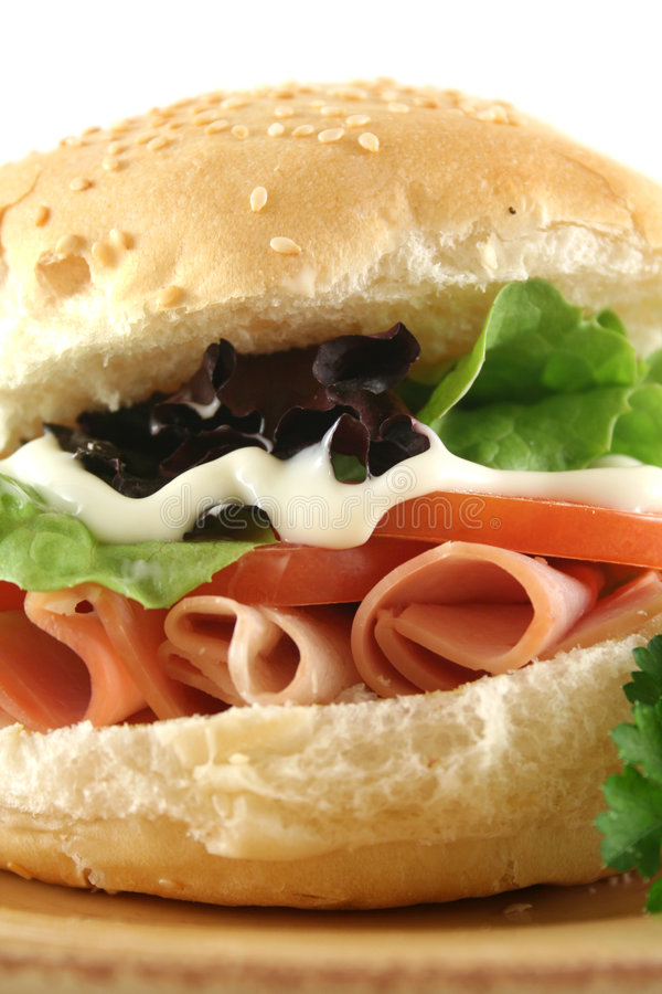 Free Ham And Salad Roll Royalty Free Stock Image - 5854096