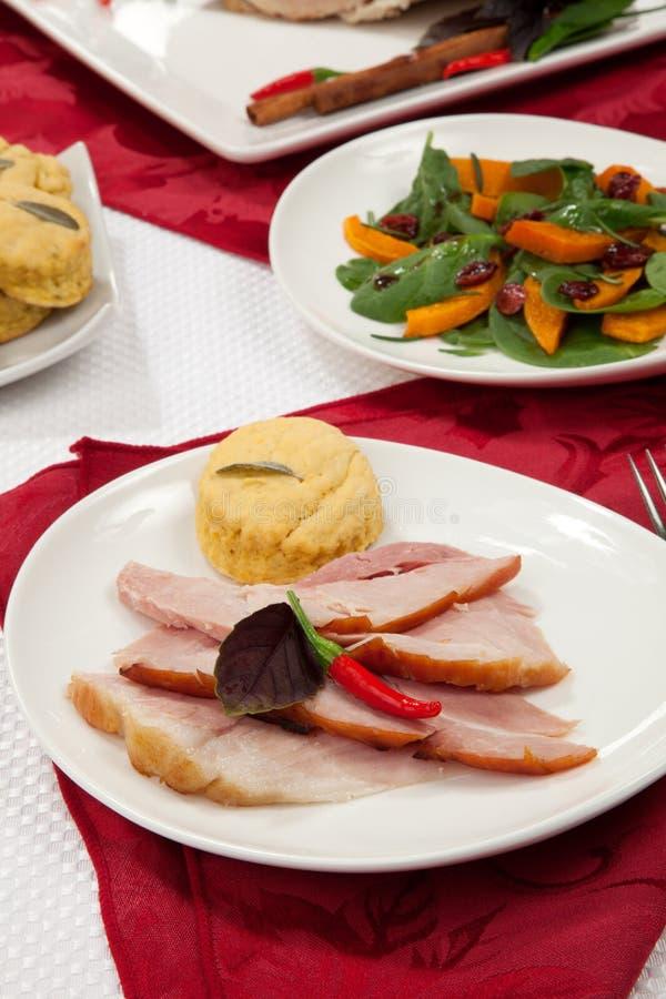 Ham Appetizer aromatizzato arrostito fotografie stock