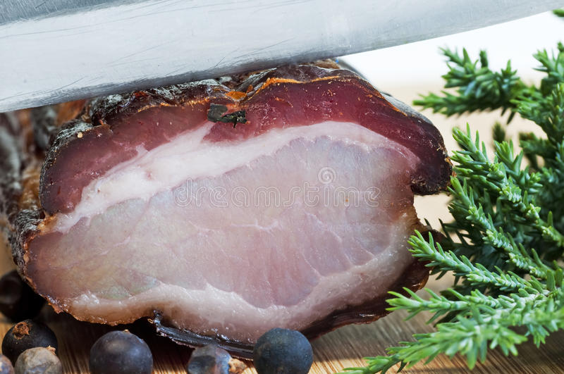Ham of the Black Forest royalty free stock images