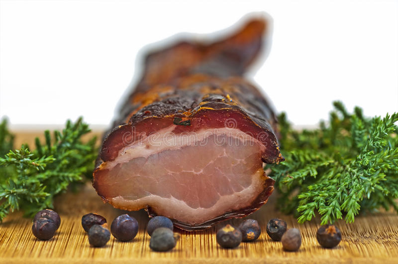 Ham of the Black Forest stock image