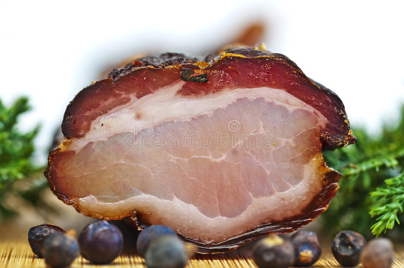 Ham of the Black Forest stock images