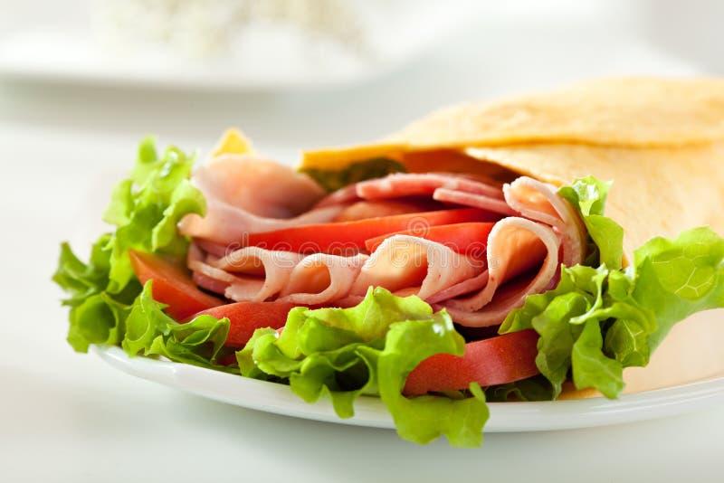 Ham Burrito fotografia stock libera da diritti