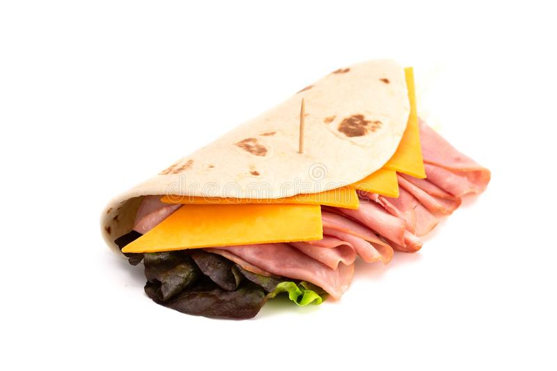 Ham Cheese and Lettuce Pita A Perfect Light and Healthy Lunch stock image