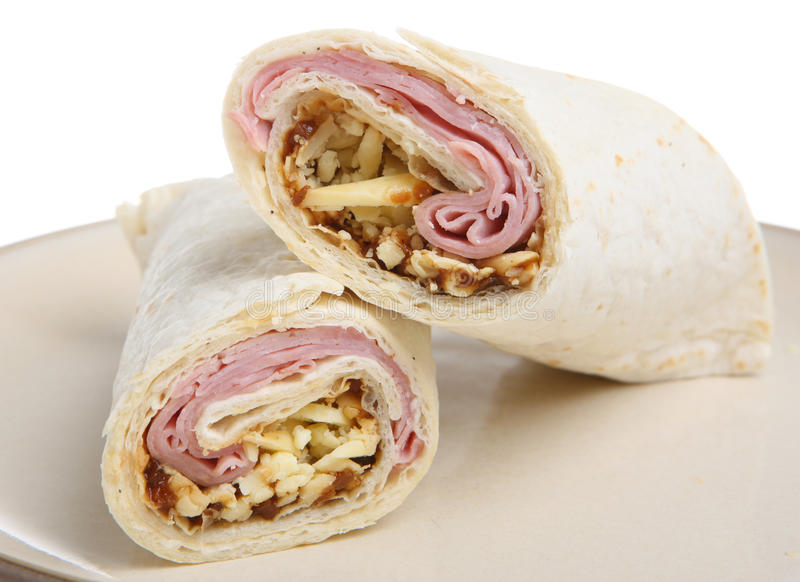 Download Ham, Cheese & Pickle Wrap Royalty Free Stock Photo - Image: 17902125