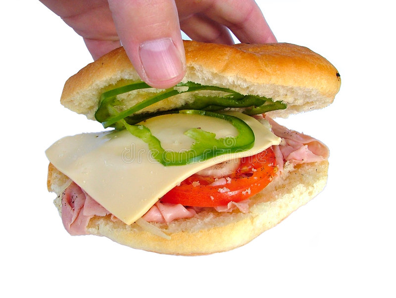Ham And Cheese Roll Royalty Free Stock Image