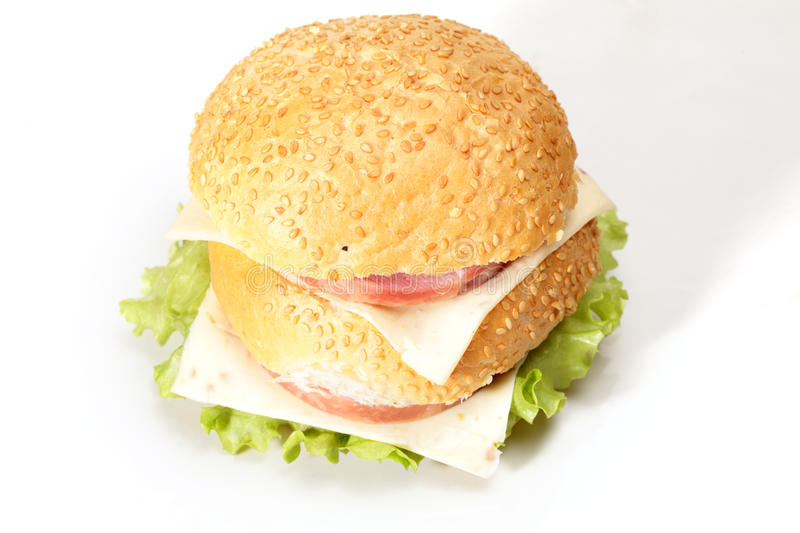 Download Ham And Cheese Sandwich Above View Royalty Free Stock Image - Image: 22198866