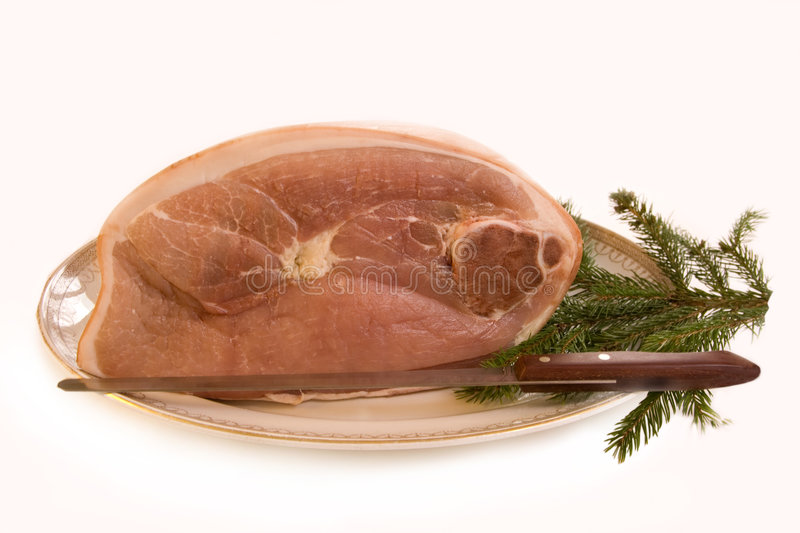 Download Ham for Christmas stock photo. Image of meat, festive - 7555642