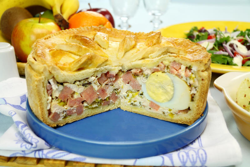 Download Ham And Egg Pie stock image. Image of flavor, garnish - 28928387