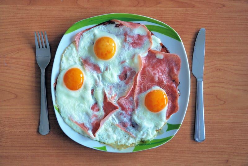 Ham and eggs stock photo
