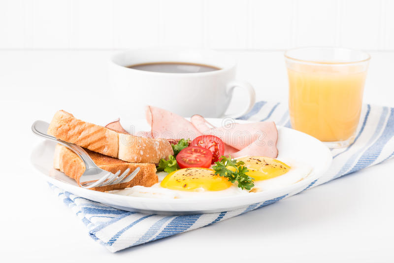 Ham and Eggs royalty free stock image