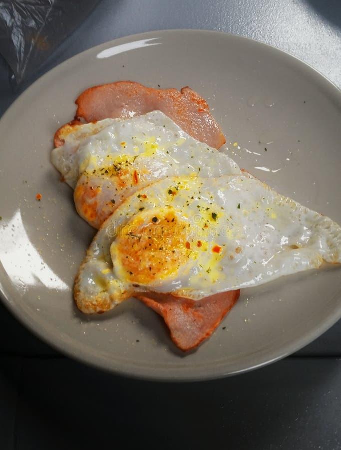 Ham en Eieren stock afbeelding