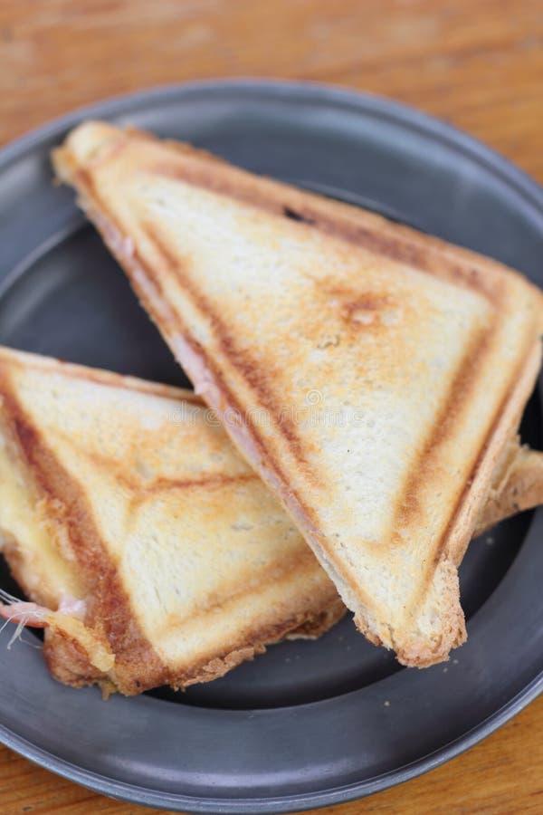 Ham en kaas geroosterde sandwiches royalty-vrije stock foto