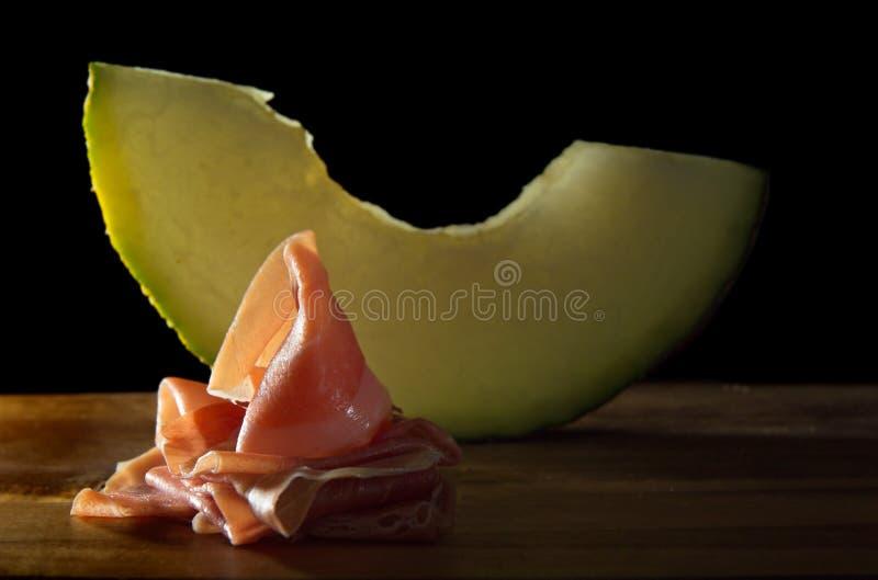Ham en Meloen royalty-vrije stock afbeeldingen