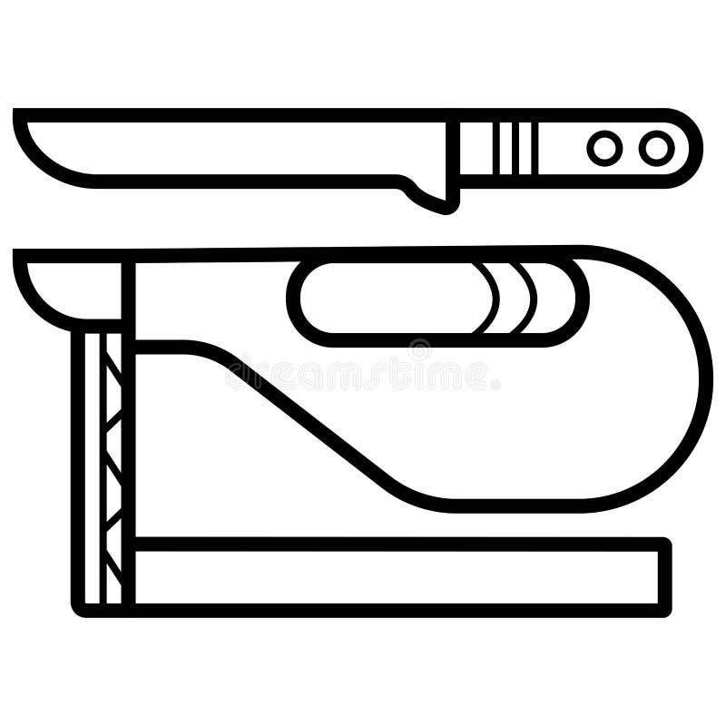 Ham icon vector royalty free illustration