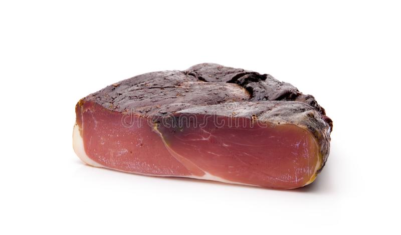 Ham Isolated allemand fumé image stock