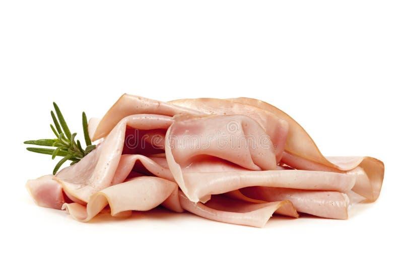 Ham Isolated en blanco foto de archivo