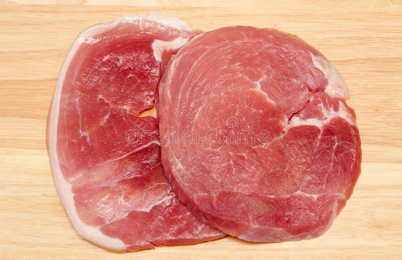 Ham-lapjes vlees royalty-vrije stock fotografie